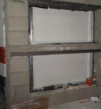 Sectorización de sala de máquinas hacia garaje comunitario;